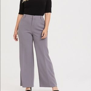 Torrid Grey High Waisted Dress Pants